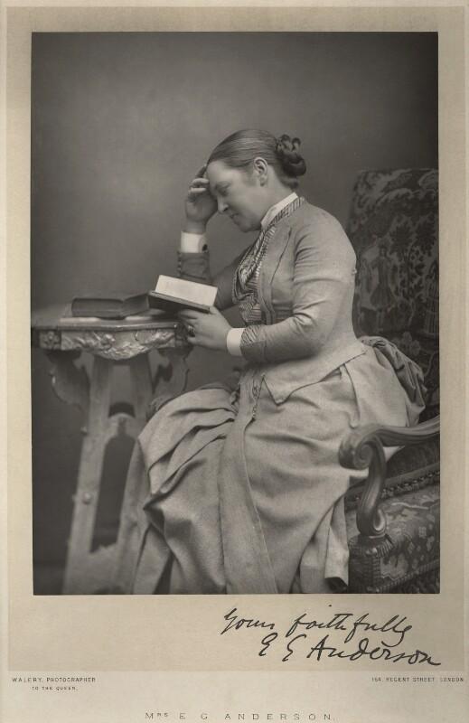 Elizabeth Garrett Anderson, by Walery, published by  Sampson Low & Co, published February 1889 - NPG x8446 - © National Portrait Gallery, London