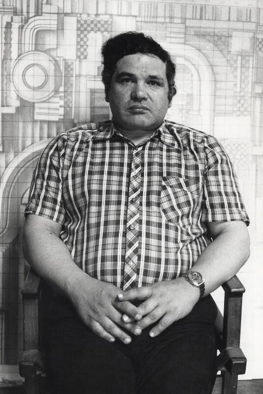 Sir Eduardo Paolozzi, by Harry Diamond, July 1975 - NPG x4116 - © National Portrait Gallery, London