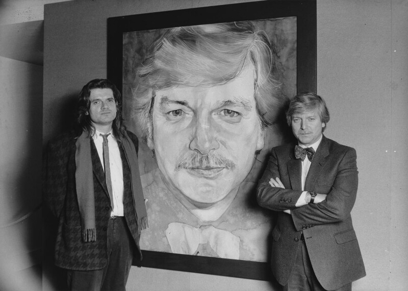 Michael Frith; Michael John Molloy, by Alan Olley, 1987 - NPG x29559 - © reserved; collection National Portrait Gallery, London
