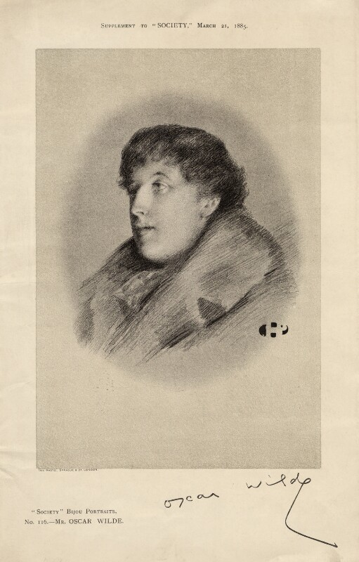 Oscar Wilde, by Unknown artist, published 1885 - NPG D16912 - © National Portrait Gallery, London