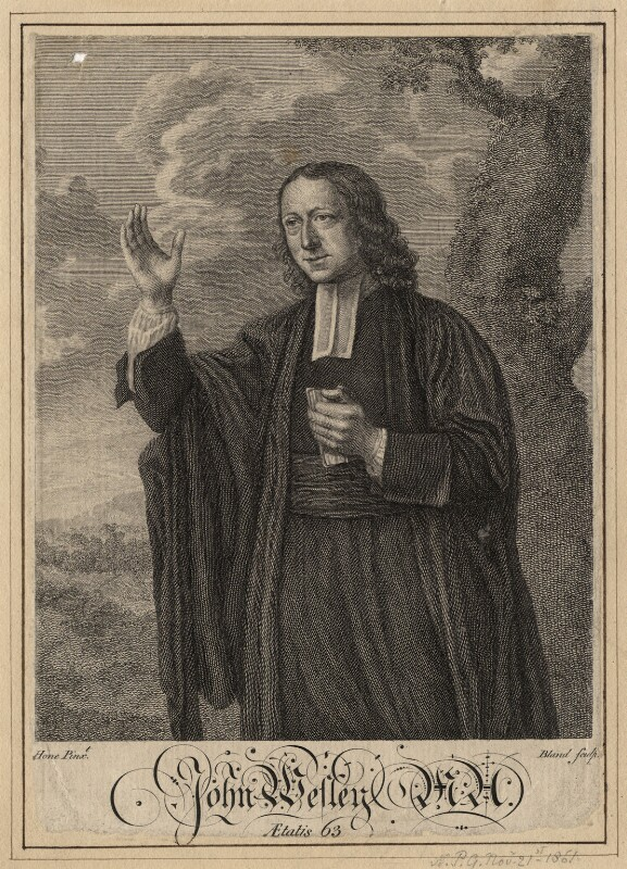 John Wesley, by Bland, after  Nathaniel Hone, circa 1766 - NPG D16939 - © National Portrait Gallery, London