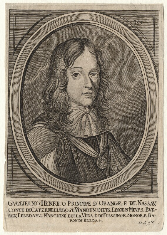 King William III, by Lerch, after  Adriaen Hanneman, 1660s - NPG D16947 - © National Portrait Gallery, London