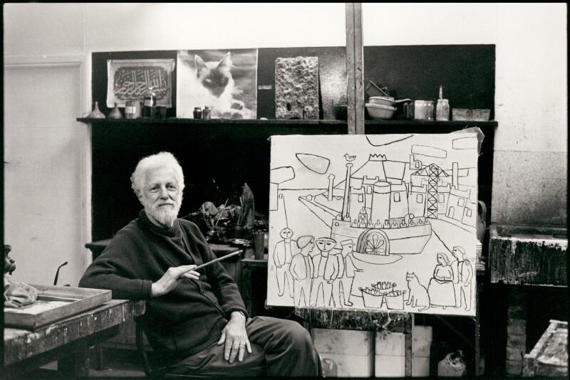 Julian Otto Trevelyan, by Jane Bown, 1986 - NPG x25215 - © Jane Bown