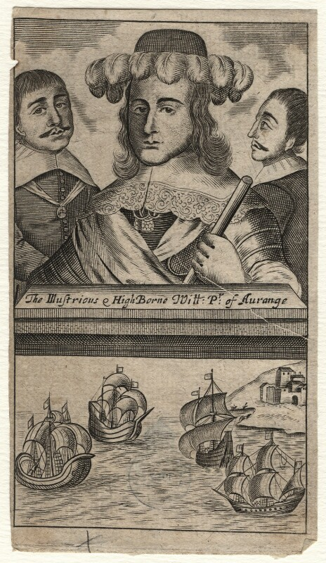 King William III and two unknown men, after Unknown artist, 1660s? - NPG D16946 - © National Portrait Gallery, London