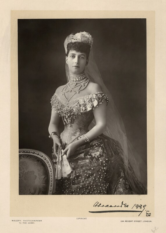 Queen Alexandra, by Walery, published by  Sampson Low & Co, published December 1889 - NPG x4125 - © National Portrait Gallery, London