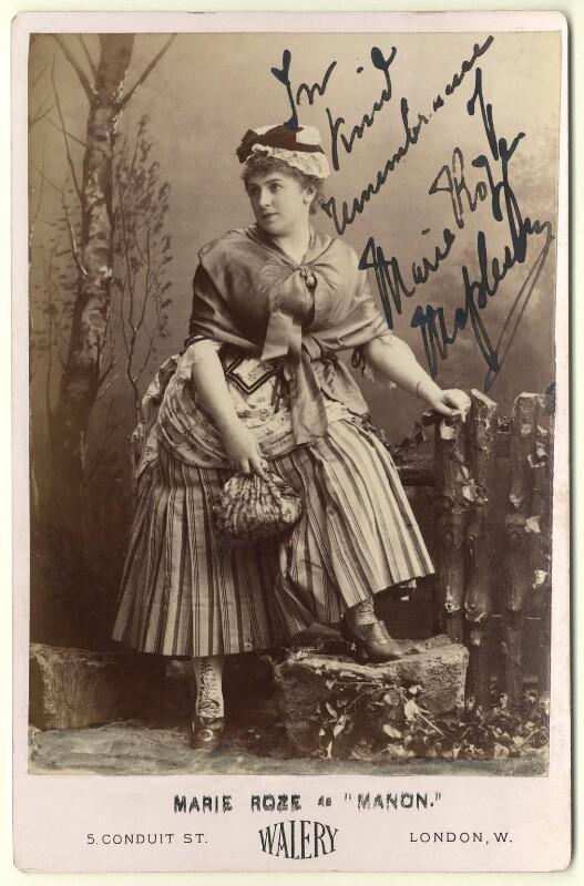 Marie Roze as 'Manon', by Walery, circa 1884 - NPG x22123 - © National Portrait Gallery, London