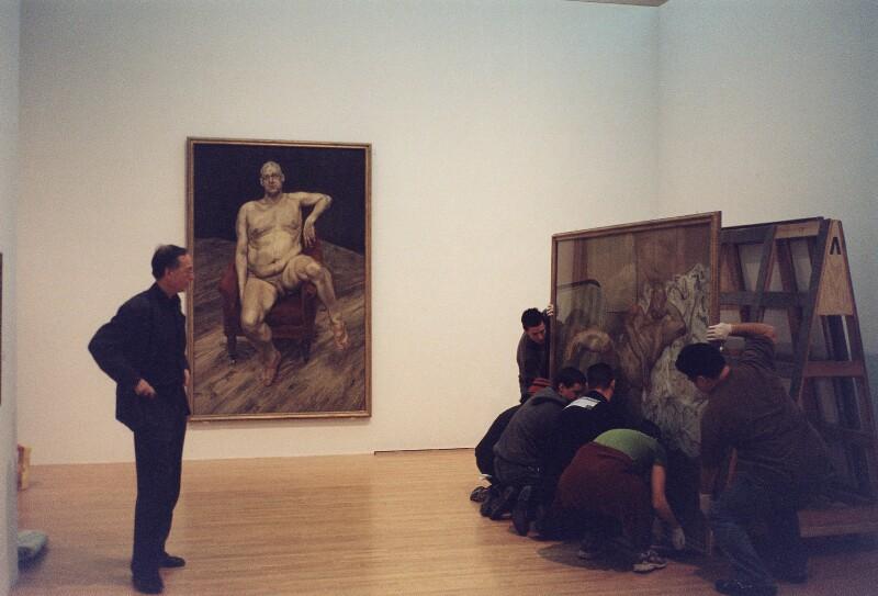 'Bill Feaver at MOCA, Los Angeles' (William Feaver), by David Dawson, 2003 - NPG x126302 - © David Dawson