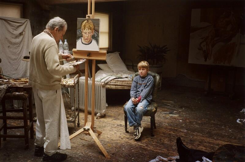 'Albie sitting for his grandfather' (Lucian Freud; Albie Morrissey), by David Dawson, 2004 - NPG x126316 - © David Dawson