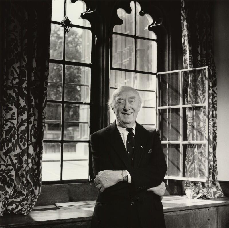 (Frederick) Elwyn Jones, Baron Elwyn-Jones of Llanelli, by Lucinda Douglas-Menzies, 1988 - NPG x32710 - © Lucinda Douglas-Menzies / National Portrait Gallery, London