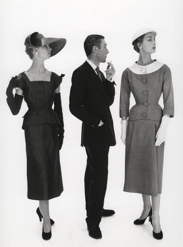 Michael (Michael Donéllan) with two fashion models, by Norman Parkinson, 1953 - NPG x30060 - © Norman Parkinson Archive