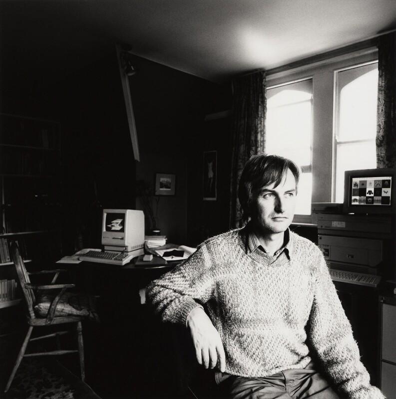 Richard Dawkins, by Stephen Hyde, 1989 - NPG x76288 - © Stephen Hyde / National Portrait Gallery, London