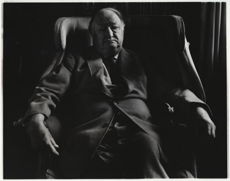 Richard Austen ('Rab') Butler, 1st Baron Butler of Saffron Walden, by Paul Joyce, May 1977 - NPG x13428 - © Paul Joyce / National Portrait Gallery, London