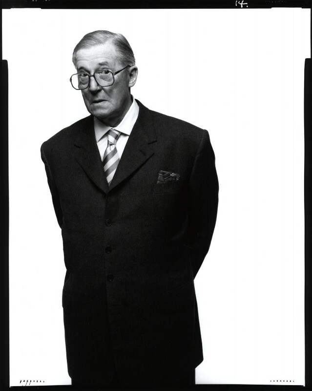 Sir Hardy Amies, by Fergus Greer, 1988 - NPG x126807 - © Fergus Greer