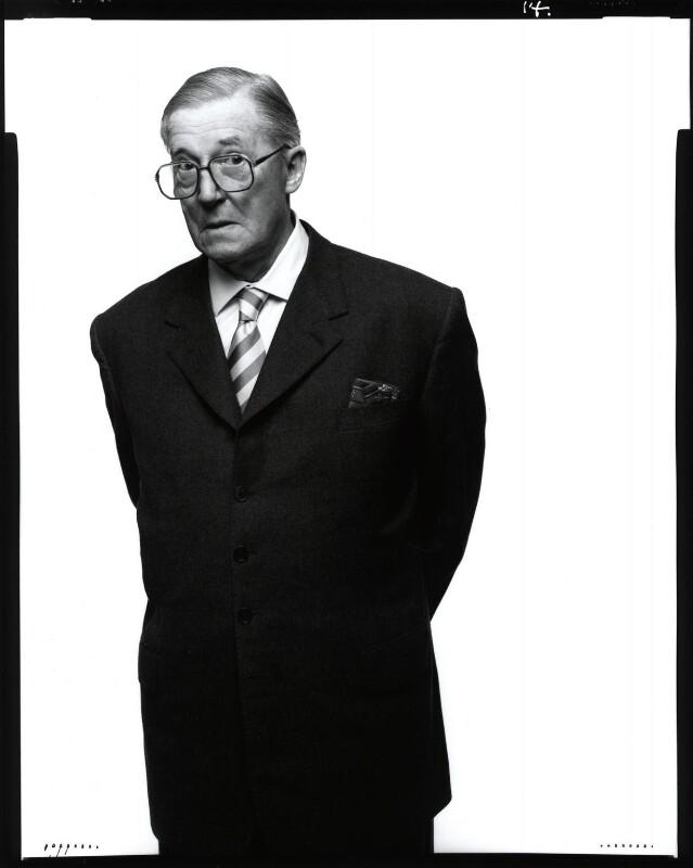 Sir Hardy Amies, by Fergus Greer, 1988 - NPG x126807 - © Fergus Greer