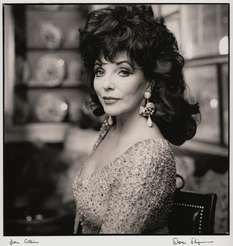 Joan Collins, by Steve Shipman, November 1992 - NPG x47272 - © Steve Shipman / National PortraitGallery, London