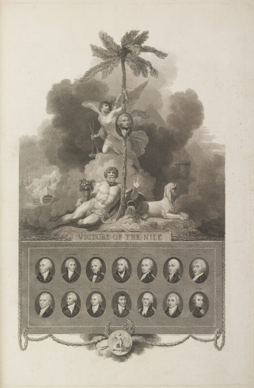 Victors of the Nile, by William Bromley, and by  John George Landseer, and by  William Satchwell Leney (Lenney), published by  Robert Bowyer, after  Robert Smirke, published 1803 - NPG D17019 - © National Portrait Gallery, London