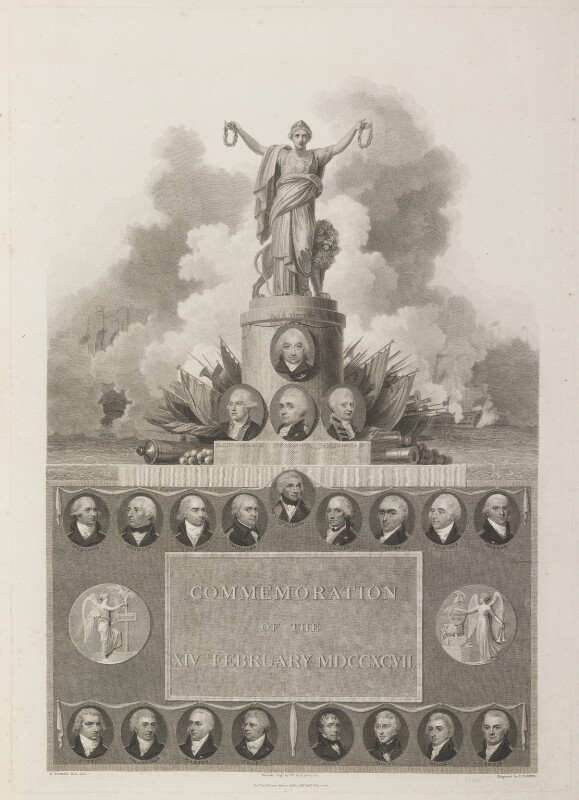 Commemoration of the 14th February 1797, by William Henry Worthington, and by  James Parker, published by  Robert Bowyer, after  Robert Smirke, published 1803 - NPG D17017 - © National Portrait Gallery, London