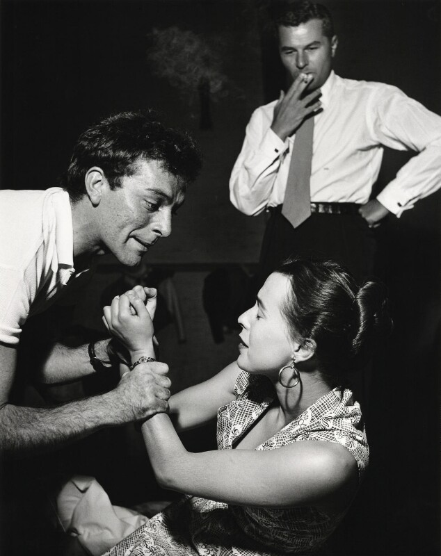 Michael Benthall; Richard Burton as Hamlet; Claire Bloom as Ophelia, by Norman Parkinson, 1953 - NPG x30028 - © Norman Parkinson Archive/ Iconic Images