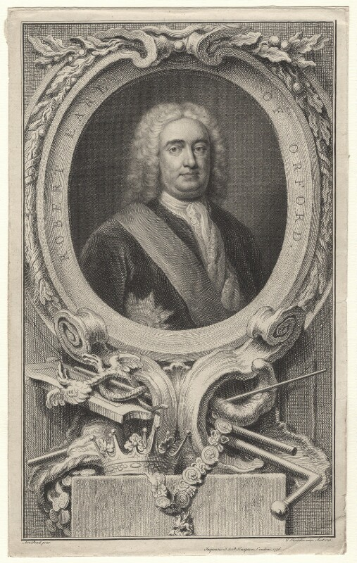 Robert Walpole, 1st Earl of Orford, by Jacobus Houbraken, published by  John & Paul Knapton, after  Arthur Pond, published 1746 - NPG D16747 - © National Portrait Gallery, London
