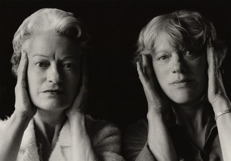 'Reminiscence: Portrait with my Sister' (Anne Noggle with her sister, Mary Pease (née Noggle)), by Anne Noggle, 1980 - NPG x76772 - © Anne Noggle