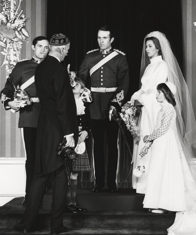 NPG x30169; Norman Parkinson at the wedding of Mark Phillips and ...
