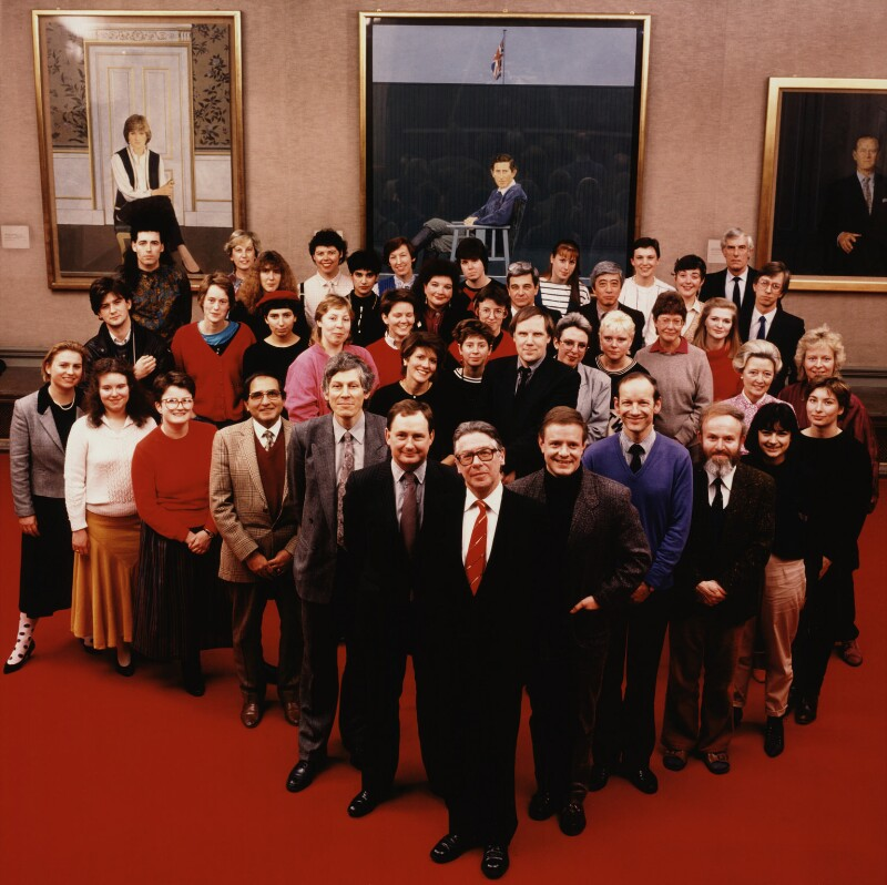 The Staff of the National Portrait Gallery, by Trevor Leighton, 4 March 1987 - NPG x28000 - © Trevor Leighton / National Portrait Gallery, London