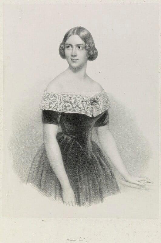 Jenny Lind, by Richard James Lane, after  Conrad L'Allemand, published 1847 - NPG D21695 - © National Portrait Gallery, London
