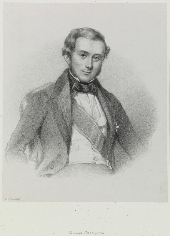 Hon. George Byng, 7th Viscount Torrington, by Richard James Lane, circa 1847 - NPG D21708 - © National Portrait Gallery, London