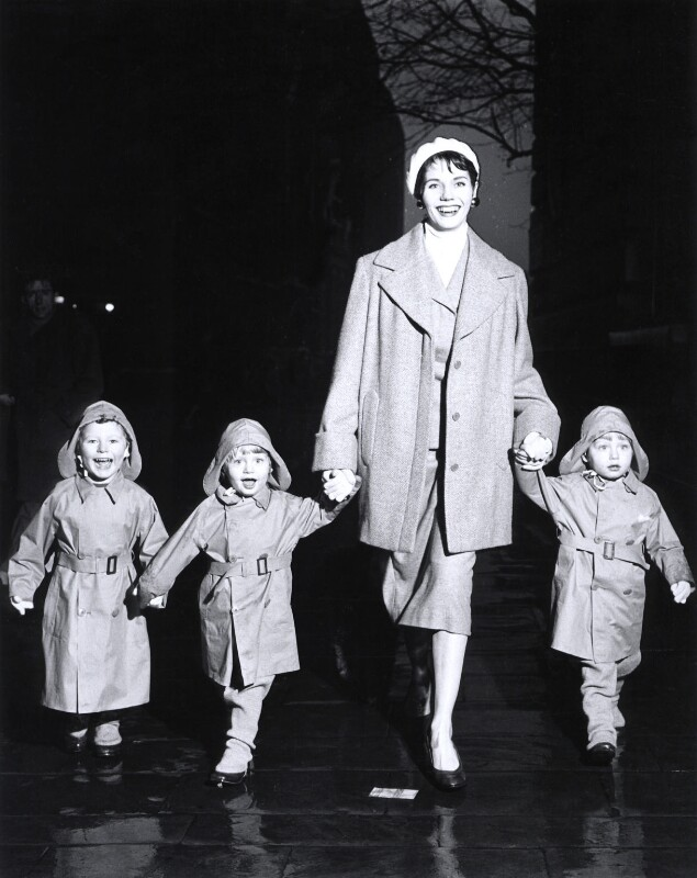Enid Boulting with her children Fitzroy, Edmund and Rupert, by Norman Parkinson, 1955 - NPG x30119 - © Norman Parkinson Archive