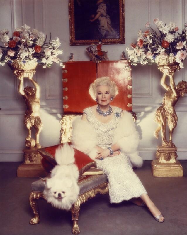 Dame Barbara Hamilton Cartland, by Norman Parkinson, 1977 - NPG x30159 - © Norman Parkinson Archive/ Iconic Images