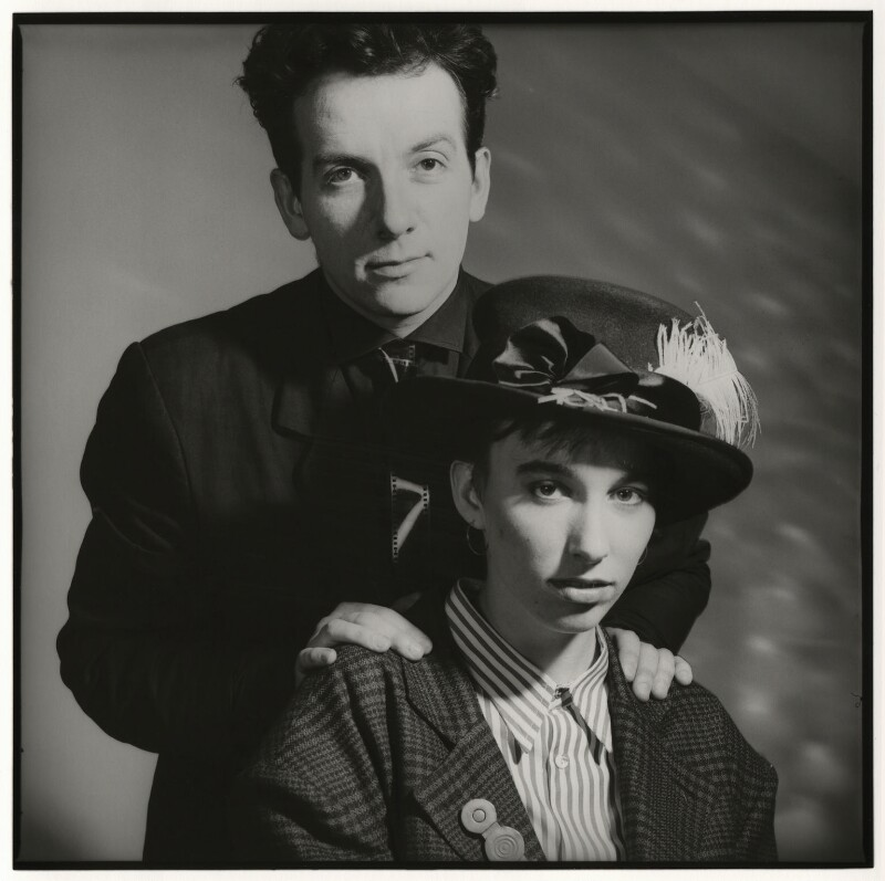 Elvis Costello; Cait O'Riordan, by Chris Garnham, June 1986 - NPG x38106 - © estate of Chris Garnham / National Portrait Gallery, London