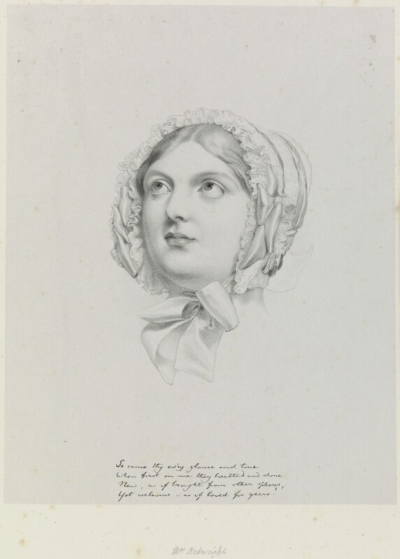 Mrs Arkwright, by Richard James Lane, after  Sir George Hayter, 1849 - NPG D21729 - © National Portrait Gallery, London