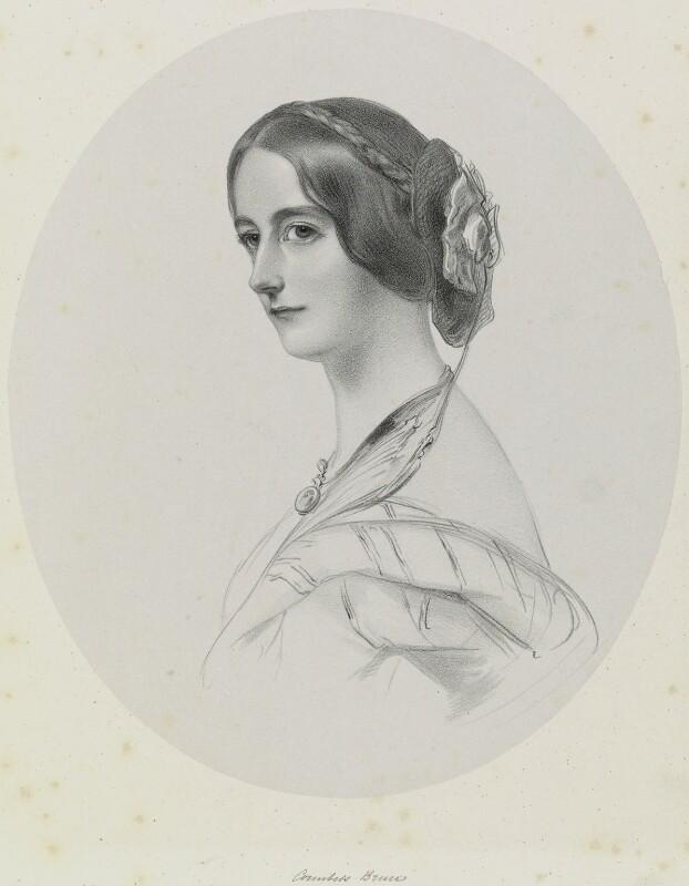 Mary Caroline (née Herbert), Marchioness of Ailesbury, by Richard James Lane, 1849 - NPG D21733 - © National Portrait Gallery, London