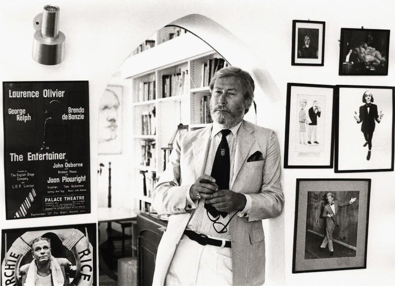 John Osborne, by Mark Gerson, 1981 - NPG x20116 - © Mark Gerson / National Portrait Gallery, London