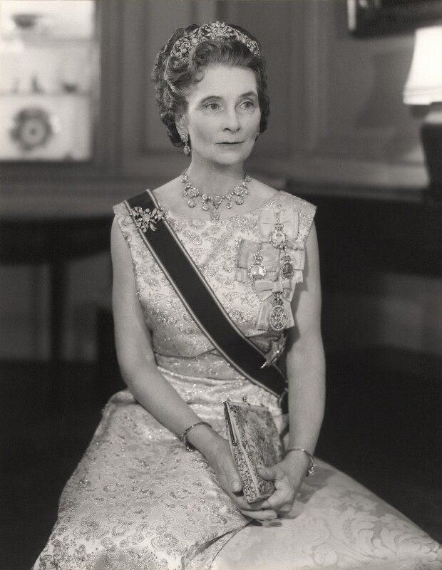 Princess Alice, Duchess of Gloucester, by Lenare, 1969 - NPG x29584 - © National Portrait Gallery, London