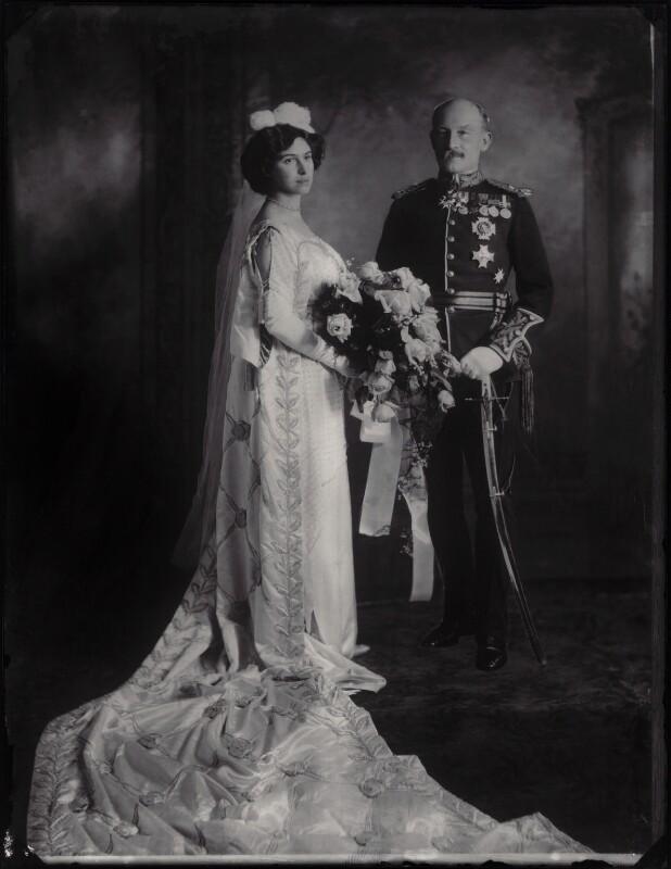 Olave St Clair Baden-Powell, Lady Baden-Powell; Robert Stephenson Smyth Baden-Powell, 1st Baron Baden-Powell, by Bassano Ltd, 1912 - NPG x28386 - © National Portrait Gallery, London
