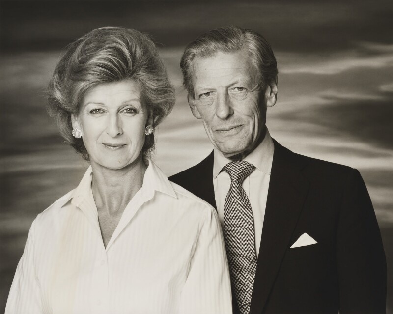 Princess Alexandra, Lady Ogilvy; Angus Ogilvy, by John Swannell, 1991 - NPG x38273 - © John Swannell / Camera Press