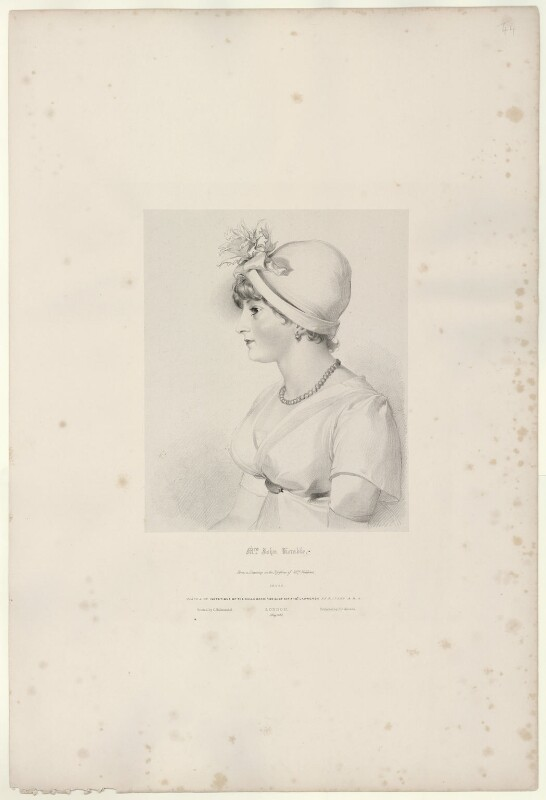 Priscilla Kemble (née Hopkins), by Richard James Lane, printed by  Charles Joseph Hullmandel, published by  Joseph Dickinson, after  Sir Thomas Lawrence, published May 1830 - NPG D21822 - © National Portrait Gallery, London