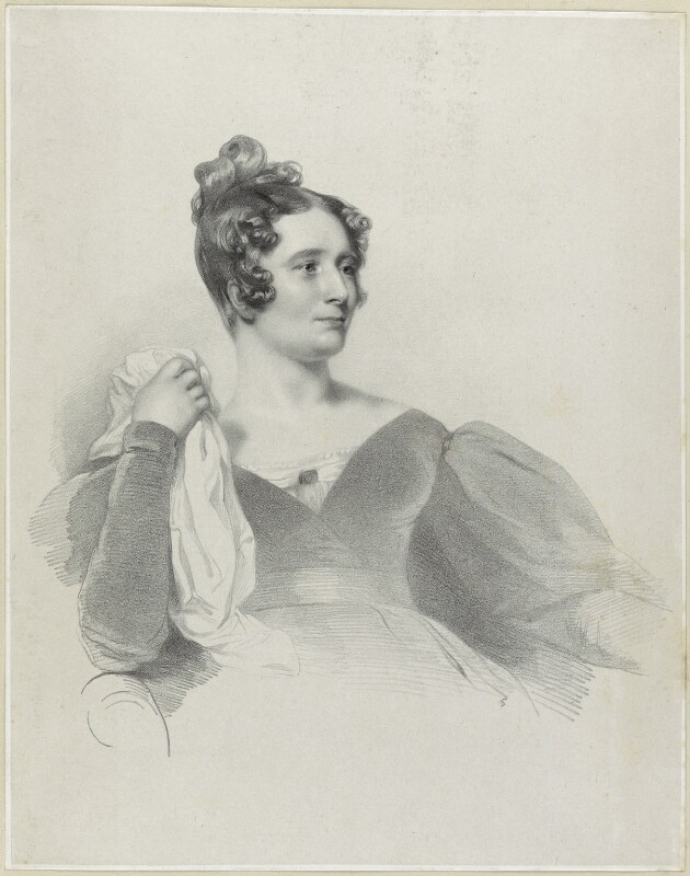 Anna Brownell Jameson (née Murphy), by Richard James Lane, printed by  Graf & Soret, after  Henry Perronet Briggs, 1836 - NPG D21874 - © National Portrait Gallery, London