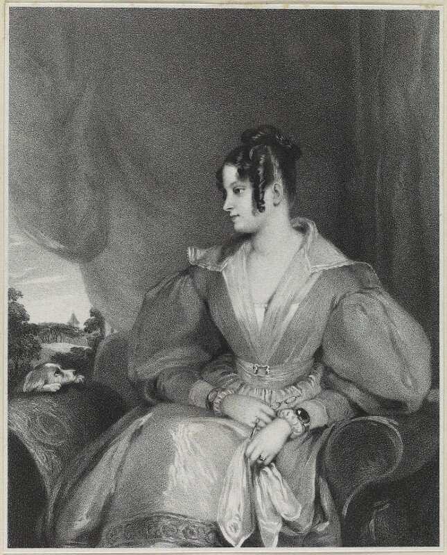 Lady Mary Fox (née FitzClarence), by Richard James Lane, printed by  Graf & Soret, published by  Joseph Dickinson, after  Gilbert Stuart Newton, published March 1836 - NPG D21877 - © National Portrait Gallery, London