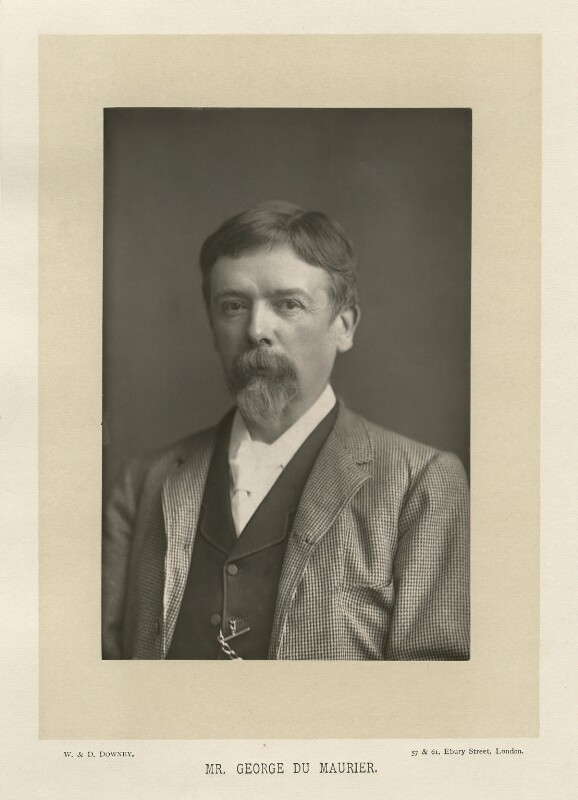 George Du Maurier, by W. & D. Downey, published by  Cassell & Company, Ltd, published 1891 - NPG x19824 - © National Portrait Gallery, London