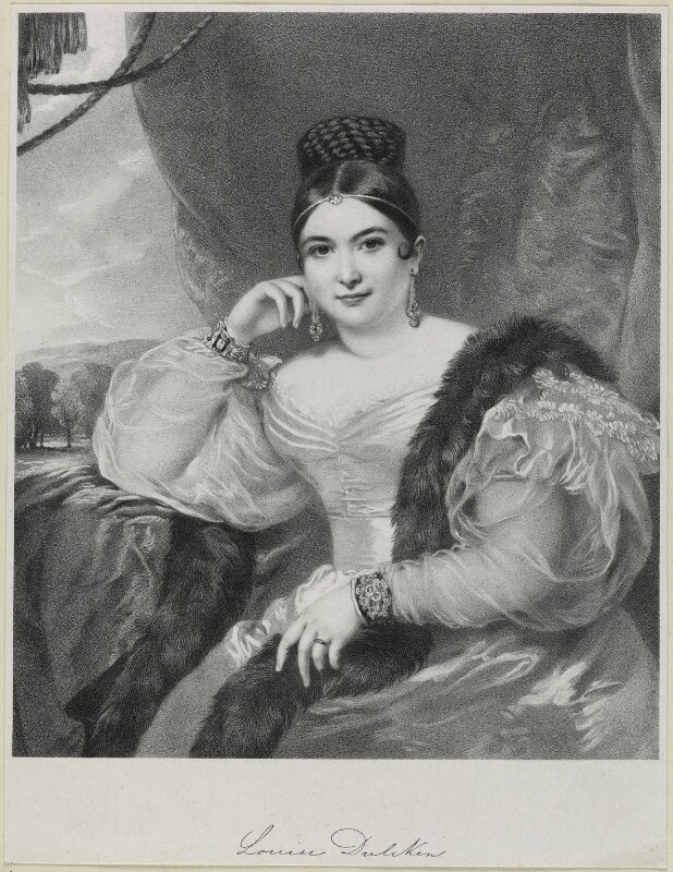 Maria Louise Dulcken, by Richard James Lane, 1836 - NPG D21891 - © National Portrait Gallery, London