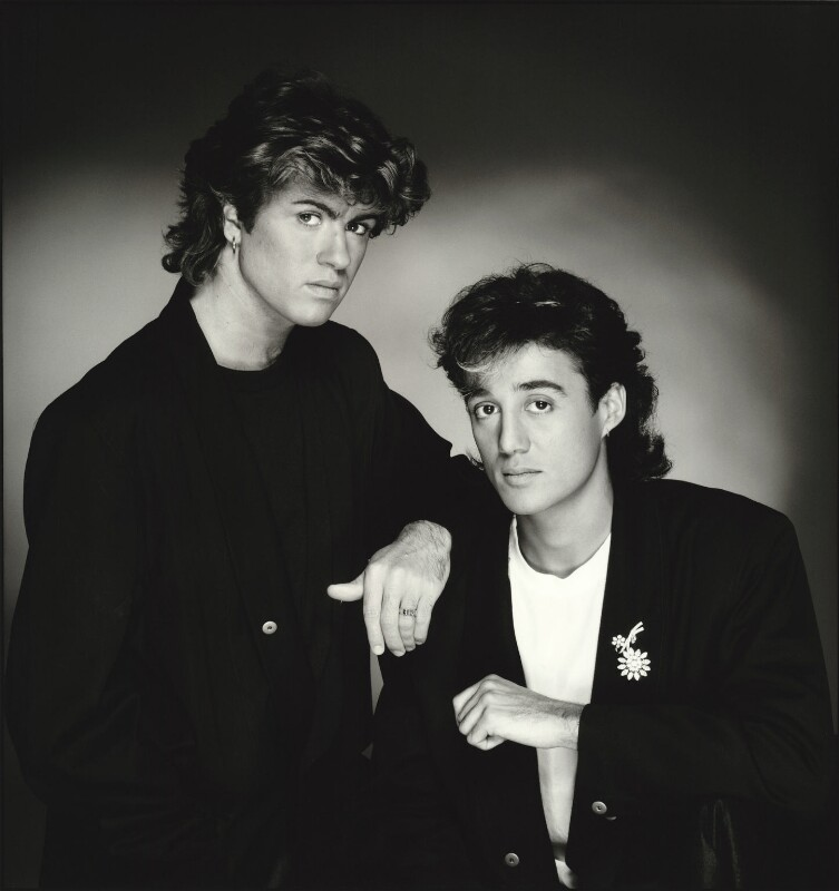 Wham: NPG X87845; Wham! (George Michael; Andrew Ridgeley