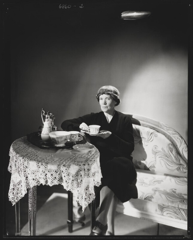 Dame Ivy Compton-Burnett, by Lee Miller, 1943 - NPG P1077 - © reserved; collection National Portrait Gallery, London