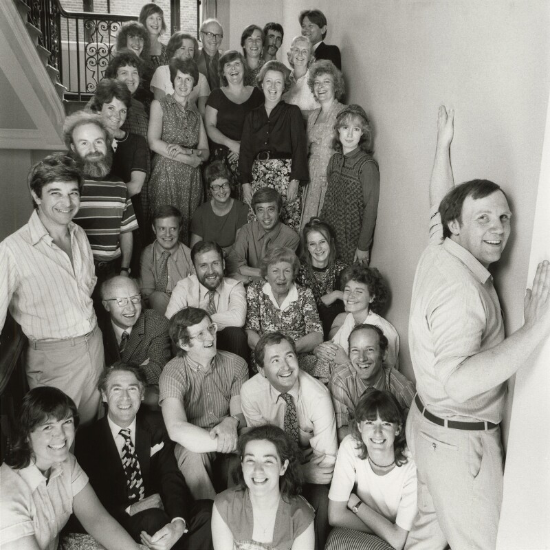 The Staff of the National Portrait Gallery, by Norman Parkinson, 5 August 1981 - NPG x126894 - © Norman Parkinson Archive