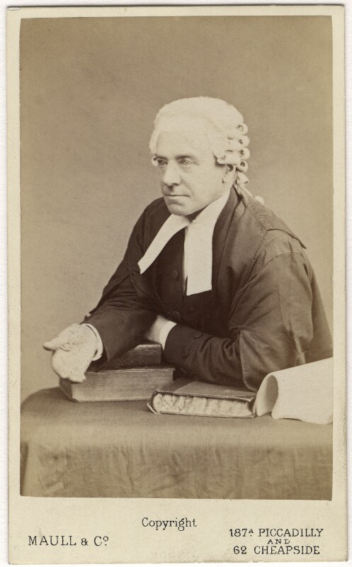 Henry Hawkins, Baron Brampton, by Maull & Co, mid 1870s - NPG Ax5069 - © National Portrait Gallery, London