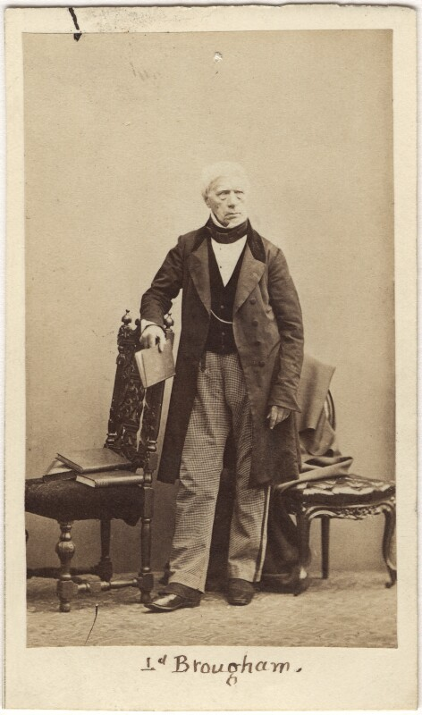 Henry Brougham, 1st Baron Brougham and Vaux, by Caldesi, Blanford & Co, early 1860s - NPG Ax5074 - © National Portrait Gallery, London