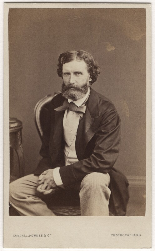 Sir Frederic William Burton, by Cundall, Downes & Co, or by  John Watkins, circa 1863 - NPG Ax5077 - © National Portrait Gallery, London