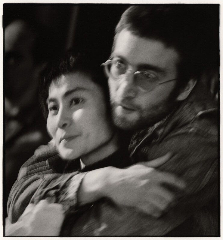 Yoko Ono; John Lennon, by Herb Schmitz, early 1970s - NPG x68800 - © Herb Schmitz