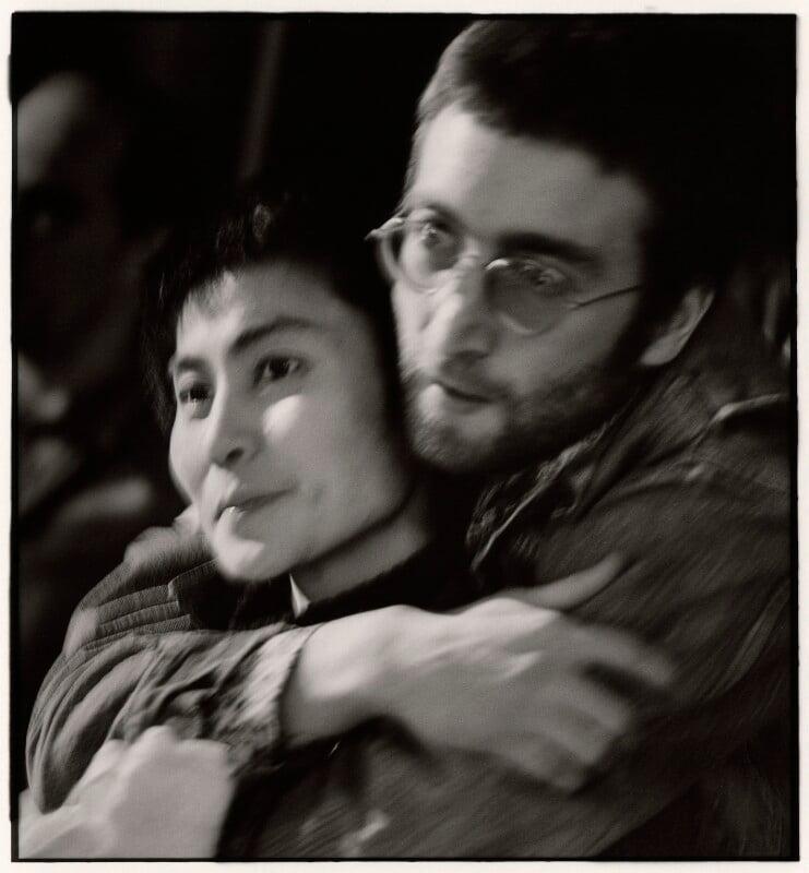 Yoko Ono; John Lennon, by Herb Schmitz, early 1970s - NPG x68800 - © Herb Schmitz